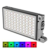 BOLING BL-P1 RGB LED Full Color Camera/Camcorder Light, Pocket Size Rechargeable Video Light with 2500k-8500k Color Range, 9 Common Scenario simulations Vlog with Premium Aluminum Alloy Shell