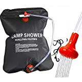 Camping solar Shower Bag Portable Solar Heating 5 Gallons/20L with On-Off Switchable Shower Head forfor...