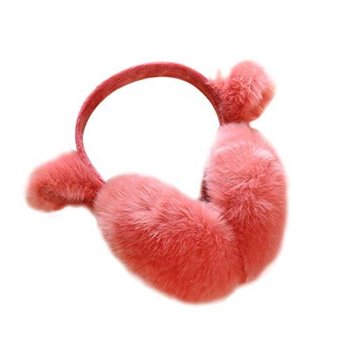 GJJSZ Orejeras de Invierno de Conejo para Mujer Orejeras de Piel cálida Calentadores de oído cálidos de Invierno Regalos para niñas Mujer