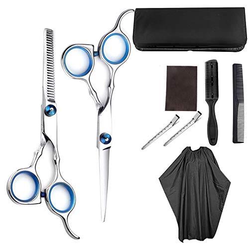 ZMK-720 Set de tijeras de peluquería 8PC del corte de pelo de peluquería establece kit de corte de pelo de peluquería adelgazamiento o en el hogar adecuado for las mujeres y los niños de sexo masculin