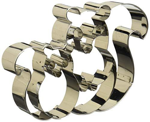 Birkmann 1010707110 Ausstechform Eichhörnchenpaar 12,3 cm, Kunststoff, Grau, 5 x 3 x 2 cm