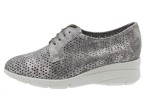 PieSanto Zapato Cordón Metal Visón 200623 para Mujer Talla 38