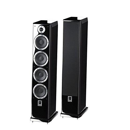 Ascada 600 Tower | Vollaktives kabelloses High-End-Lautsprechersystem | hochwertige Eingänge (optisch, Coax, USB, Bluetooth, aptx) | 1 Paar - schwarz