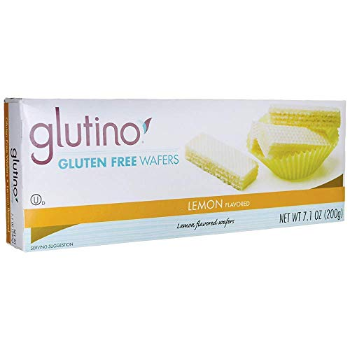 Glutino Gluten Free Wafer Cookies Lemon 7.10 OZ (Pack of 3)