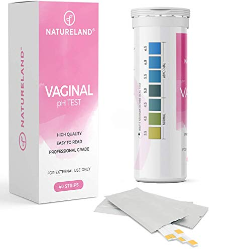 [40 Strips] Natureland Vaginal Health pH Test Strips, Feminine pH Test, Value Pack | Monitor Vaginal Intimate Health & Prevent Infection | Accurate Acidity & Alkalinity Balance (Original)