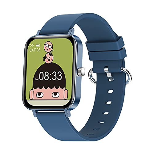 Hombres Mujeres Smart Watch 1.69Inch Screen Pantalla Larga Standby Modo Multi-Sport Mode Relojes Fitness para Android iOS,D