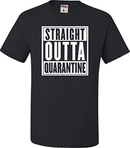 Go All Out X-Large Black Adult Straight Outta Quarantine T-Shirt