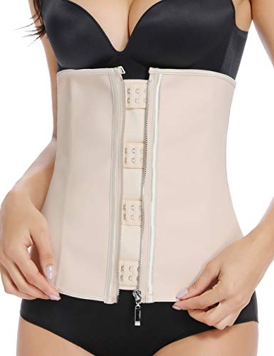 Women Waist Trainer Latex Waist Cincher Hourglass Workout Corset Body Shaper