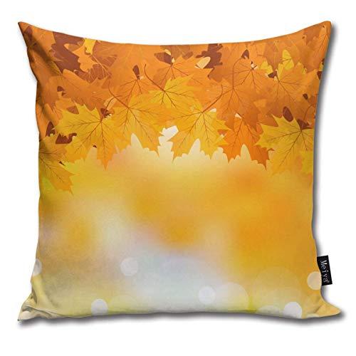 XCNGG Funda de Almohada Funda de cojín de Almohada para el hogar Ropa de Cama Autumn Leaves Background Household Sofa Car Cushion Cover Double Side Bed Pillowcase 45cm 45cm