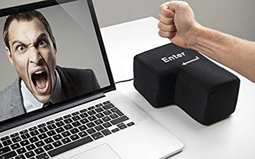 Creative Super Sized Enter Key USB Big Enter Comfortable Economic Desktop Pillow Stress Relief Punch Bag