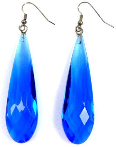 Boucles d'oreilles Femme pendantes Ensemble 2stk d'oreille de couleurs fluo Disco Party bijoux Boucle d'oreille Lot de 6 cm Earrings Neon Colors 5279 : Couleur : bleu 5280