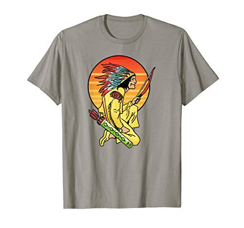 Vintage Native American Graphic Iroquois First Nation T-Shirt