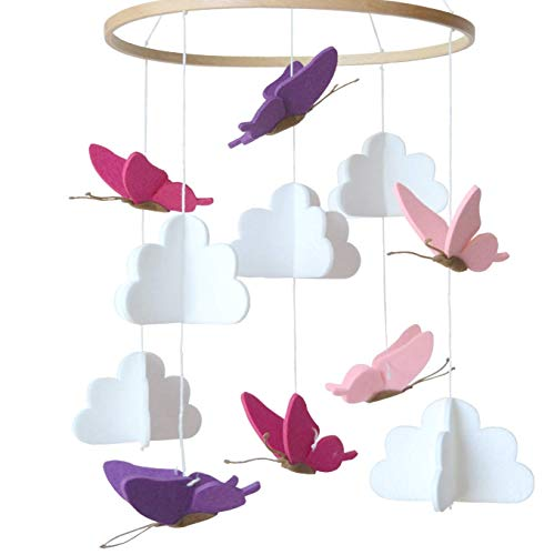 Mobile Krippe,Mobile für Babybett,baby Windspiel,baby windspiel junge,Bettglocke,Krippe Mobile für Jungen und Mädchen (D)