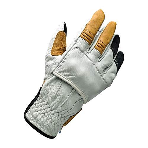 Biltwell Belden Cement-Handschuhe für Herren, mit EC-Zulassung, Verstärkungen an den Knöcheln Biker Motorrad Custom Größe 2XL