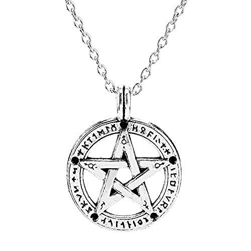 NC110 Supernatural Pentacle Pentagram Necklace Men Women Pendants Necklaces Witch Protection Star Amulet Necklace Charm Jewelry