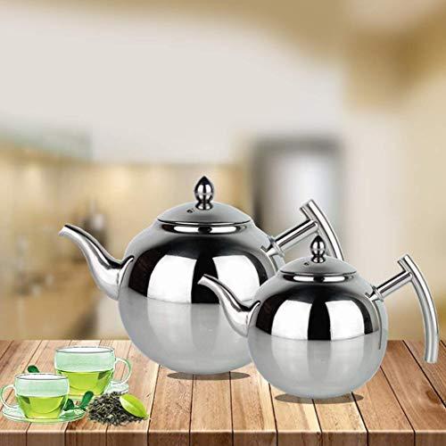 ZCC Edelstahl Teekanne Kaffee Teekessel lose Blatt Teekanne mit Teesieb 1L 1.5L 2L (Farbe: 2L), 1500 ml