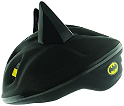 Features cool Batman 3D Features Foam padding for extra comfort and fit Quick release buckle Adjustable head straps Lightweight EPS inner
