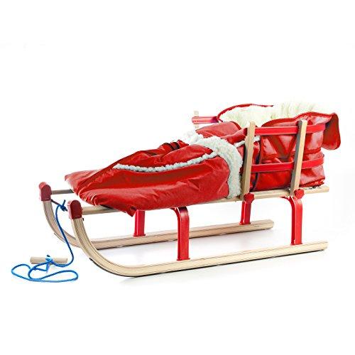 Babyschlitten/Kinderschlitten Schlitten Holzfee Davos Alaska (Rot)