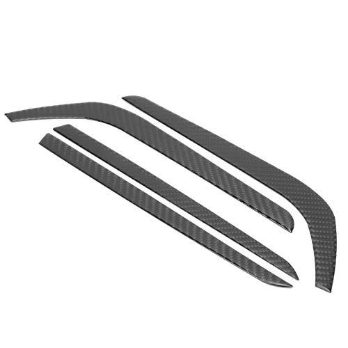 Embellecedor de cejas para lámpara antiniebla, resistente y duradero embellecedor de tira de luz antiniebla, 4 piezas de cubierta de tira de parachoques delantero, embellecedor exterior de