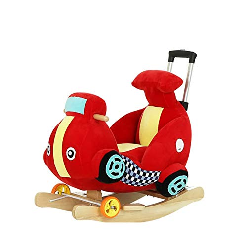 Find Discount FGH QPLKKMOI Kids Plush Toy Rocking Horse Ride on, Music Multi-Function Animal Toy Roc...
