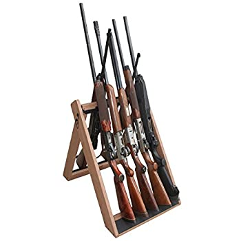 Rush Creek Creations Deer Camp Portable Folding 10 Gun Storage Rack - Handcrafted Weather Proof Material - Easy to Assembly  21 L x 27 W x 28.5 H