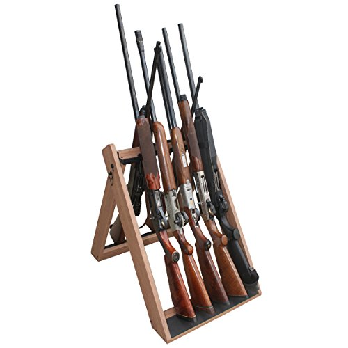 Rush Creek Creations Deer Camp Portable Folding 10 Gun Storage Rack - Handcrafted Weather Proof Material - Easy to Assembly , 21