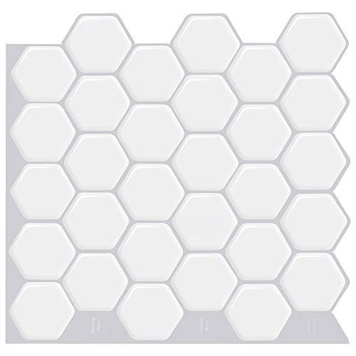 ZXF Pegatinas de baldosas, 4 unids Decoración del hogar Mosaico Impermeable Anti Corrosión Auto Adhesivo Cocina Vinilo Peel and Stick Tile Backsplash