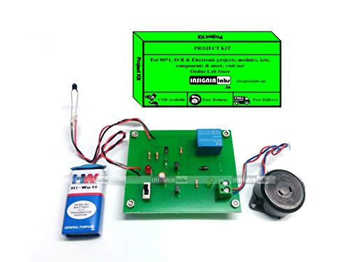 INSIGNIA LABS - FIRE Detector & Alarm Project - Electronic School College Project KIT