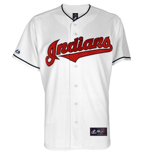MLB Cleveland Indians Home Replica Baseball Jugend Trikot Weiß, Unisex-Kinder, Wei, Large
