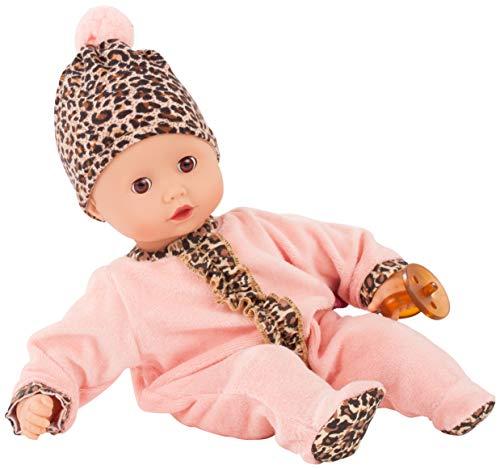 Götz 2020541 Muffin Tigeresque Puppe - 33 cm große Babypuppe mit braunen Schlafaugen, ohne Haare und Weichkörper - Weichkörperpuppe in 4-teiligen Set
