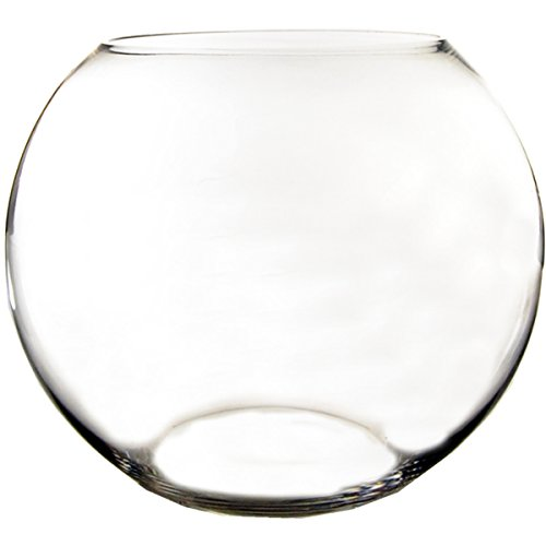 "CYS GBB108 Handblown Glass Jumbo Bubble Bowl Vase, H-15/11"" Body D-18"