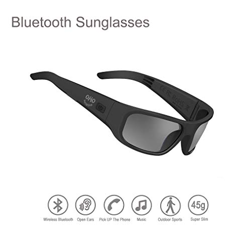 Audio Sunglasses,Open Ear Bluetooth Sunglasses to Listen Music and Make Phone Calls with Polarized UV400 Protection Safety Lenses,Unisex Design Sport Design Compatible for All Smart Phones