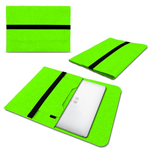 Schutzhülle kompatibel für Trekstor Primebook C13 / P14 / P14B / P13 Filz Tasche Sleeve Hülle Laptop Cover Notebook Hülle, Farbe:Grün