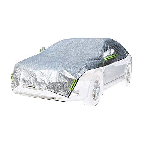 GUOCU Auto Abdeckplane Autoabdeckung Halbe Autoabdeckung Wasserdicht Sonnenschutz UV-Schutz Wetterfest PEVA Umweltfreundliche,Silber,One Size