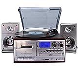 Gal Mädel Gramophone Retro-Vinyl-Schallplatte Multifunktionsgerät Moderne Zuhause Wohnzimmer Im Europäischen Stil Bluetooth-Stereo-CD-Radio-Kassetten-Player