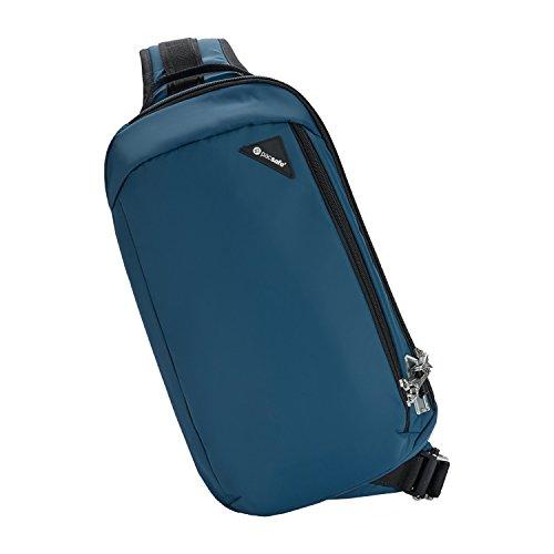Pacsafe Vibe 325 - Anti-Diebstahl Cross-Body-Bag, Umhängetasche, Sling Bag, Blau/Eclipse