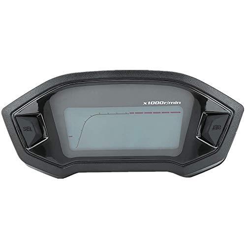 KIMISS Velocímetro Universal Motocicleta Velocímetro Digital LCD Cuentakilómetros Odómetro Digital con Sensor de Velocidad