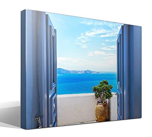 cuadro canvas Vistas Griegas 2 - Santorini - 95cm x 70cm - Fabricado en España