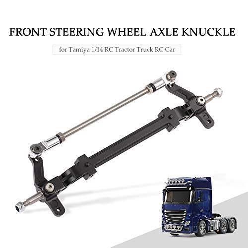 Goolsky Aluminiumlegierung Front Steering Vorderachse Achsschenkel für Tamiya 1/14 RC Traktor LKW RC Auto