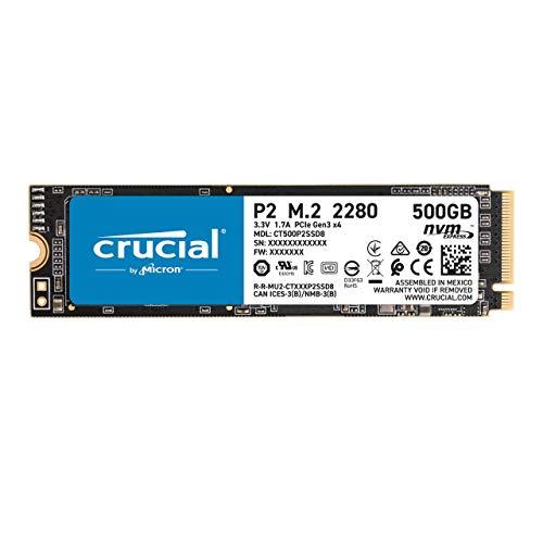 Crucial SSD P2シリーズ 500GB M.2 NVMe接続 正規代理店保証品 CT500P2SSD8JP 5年保証