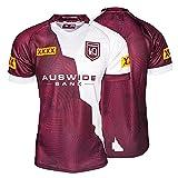 Maru Rugby Jersey 21 Maru Camiseta del Ventilador Indígena De Manga Corta Camiseta Profesional Red Wine-L