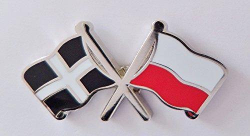 1000 drapeaux du comté des Cornouailles et drapeau de la Pologne