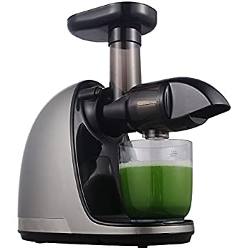 Slow Masticating Juicer AMZCHEF Slow Juicer Extractor Professional Machine Cold Press Juicer with Quiet Motor/Reverse Function Juicer Machines with Brush for High Nutrient Fruit & Vegetable Juice