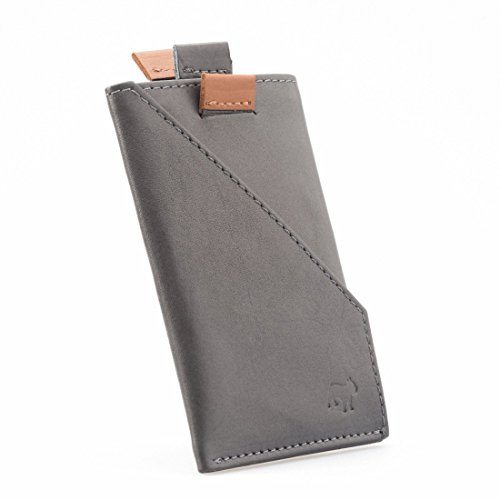 The Frenchie Co Calfskin Slim Front Pocket Speed Card Holder | Grey