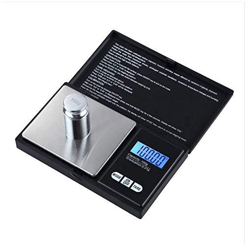 Taschenwaage - 200g / 0.01g Feinwaage, Digitalwaage mit LCD-Anzeige zum präzisen Wiegen von Schmuck, Gold und Gewürzen