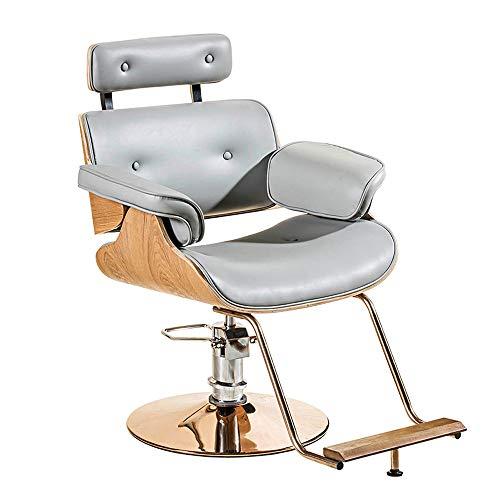 Silla de Peluquería, Altura Ajustable, Silla Giratoria para Barbero, Sillón de Peluquería Shampoo Beauty, para Estilista Mujeres Hombre