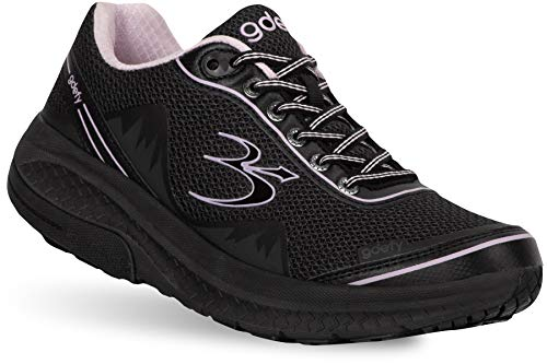 Gravity Defyer Pain Relief Women's G-Defy Mighty Walk Athletic Women's Walking Shoes 8.5 W US - Diabetic Shoes for Plantar Fasciitis - Black, Purple