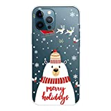 MUTOUREN - Carcasa para iPhone 11 Pro, serie de Navidad transparente de silicona TPU suave, ultra...