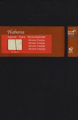 Minister Prestige Schreibtisch-Terminkalender Habana Schwarz 2021: Agenda Planing. 1 Woche auf 2 Seiten mit Tagesnotizen. 13 Monate: Dezember bis Dezember. Von 8.00 Uhr bis 21.00 Uhr.
