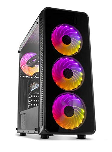 PC Gaming Ordenador de sobremesa Megamania AMD Ryzen 5 1500X 3.7GHz Turbo Quad Core | 16GB DDR4 | SSD 480GB | Gráfica Nvidia GTX 1660 6GB | WiFi 1200MPS